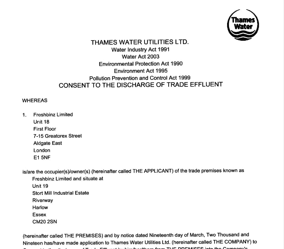 trade-effluent-discharge-consent